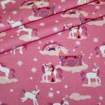 Hilco Jersey Stoff Einhorn Prinzessin pink